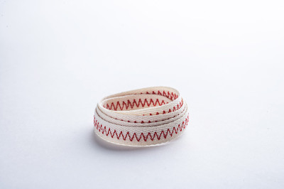 Clothing embroidered tapes