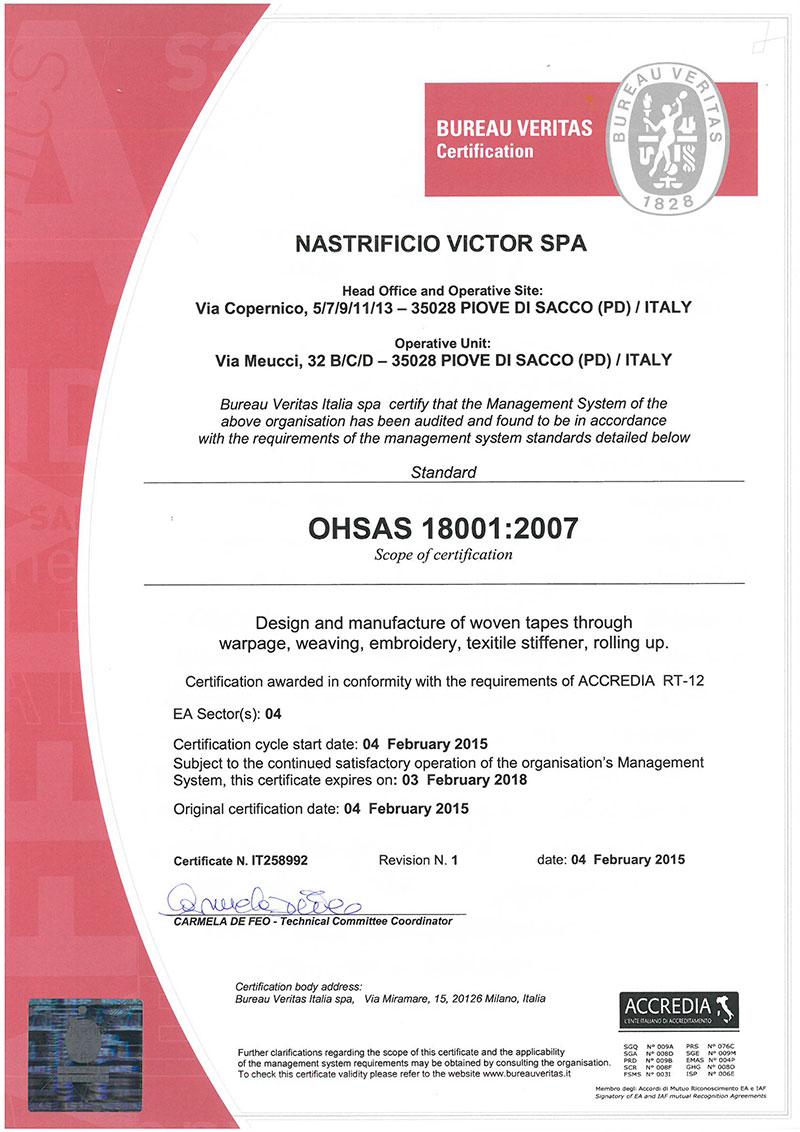 VICTOR-CERT-18001-ENGLISH