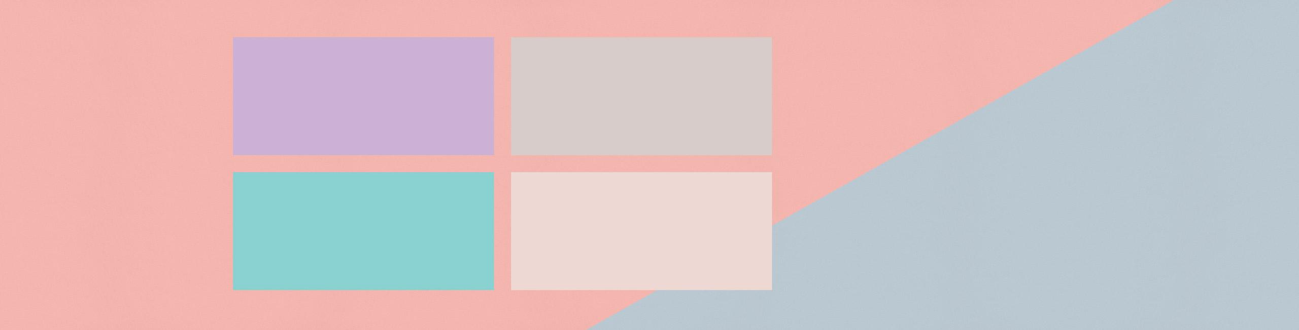 Geometrie pastello nelle collezioni di nastri tessuto dalle tinte pastello