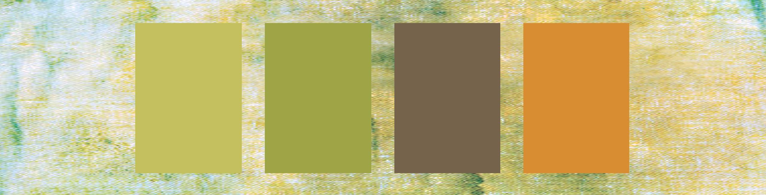 Esempio di colori che si ispirano al giardinaggio