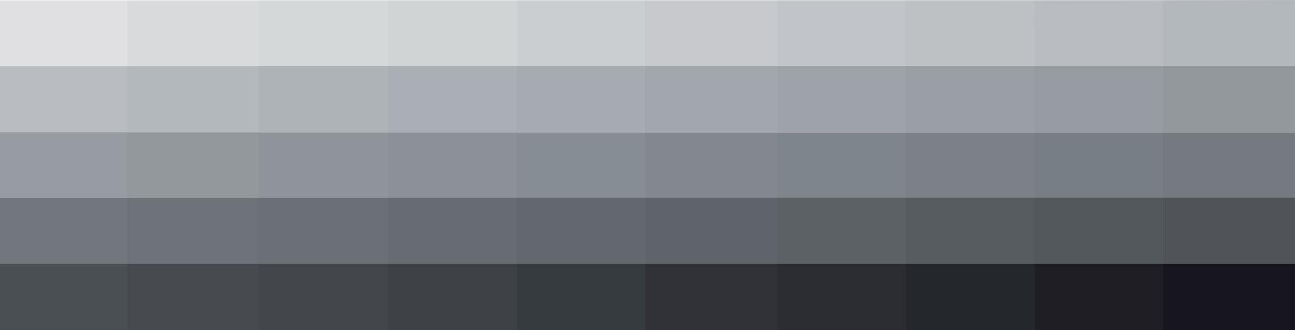 Esempi di colori sulle tonalità del grigio - trend di stagione