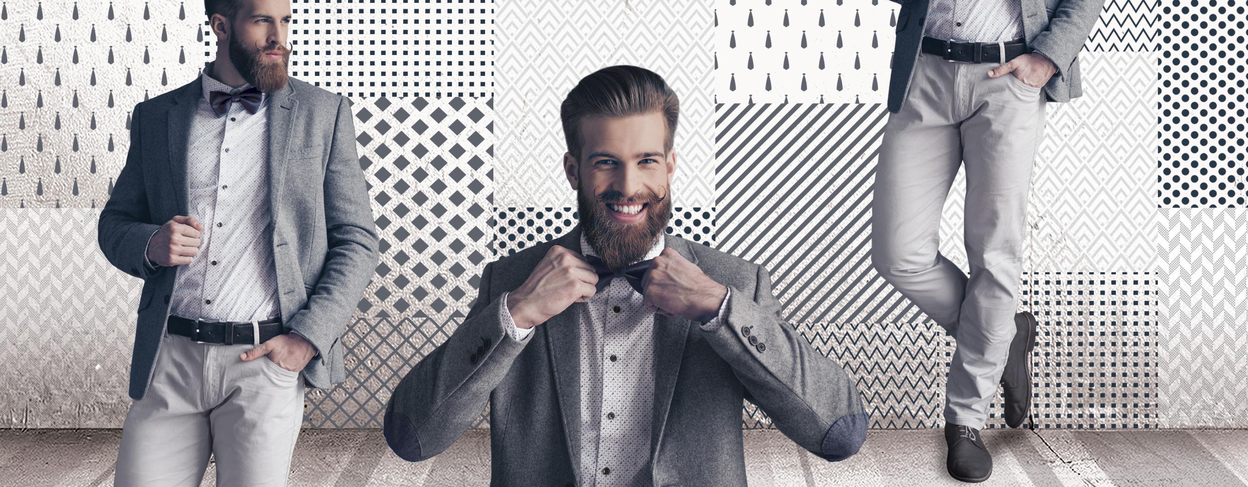 Nastri grigi per abiti sulle tonalità del grigio