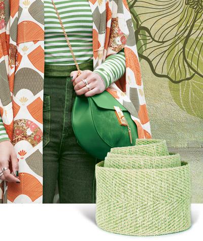 Nastri verdi per abiti: i colori del giardinaggio